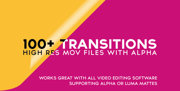 VIDEOHIVE 100+ ALPHA TRANSITIONS PACK FREE DOWNLOAD - Free After ...