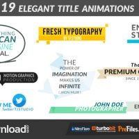 19 ELEGANT TITLE ANIMATIONS – AFTER EFFECTS