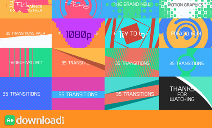 35 Cool Motion Graphics Transitions free download