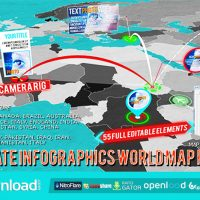 VIDEOHIVE 3D WORLD MAP PRO KIT AFTER EFFECTS TEMPLATE FREE DOWNLOAD