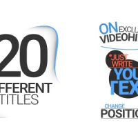 VIDEOHIVE 20 DIFFERENT TITLES FREE DOWNLOAD