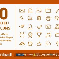 VIDEOHIVE 80 ANIMATED LINE ICONS FREE DOWNLOAD