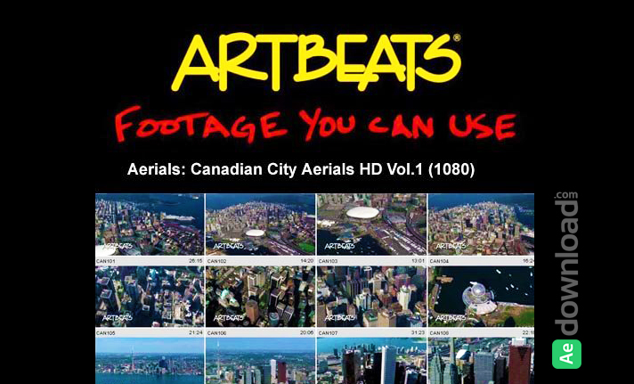 ARTBEATS - AERIALS CANADIAN CITY AERIALS HD VOL.1 (1080)
