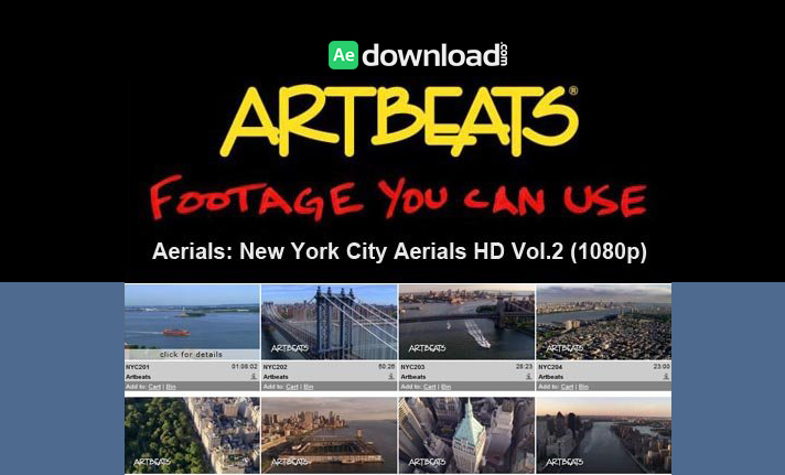 ARTBEATS - AERIALS NEW YORK CITY AERIALS VOL.2 HD (1080P)1