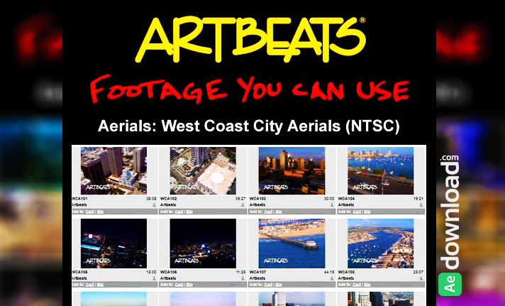 ARTBEATS - AERIALS WEST COAST CITY AERIALS (NTSC)