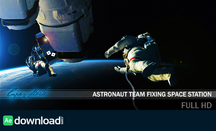 Astronaut Team Fixing Space Station free download