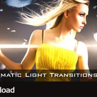 MOTION GRAPHICS – CINEMATIC LIGHT TRANSITIONS V2 – 10 PACK (VIDEOHIVE)