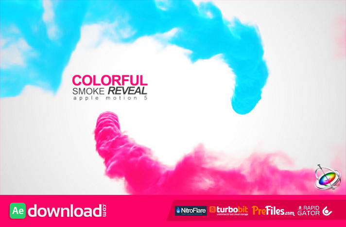 Videohive colorful smoke reveal 10284915 apple motion free after effects template for Apple motion download