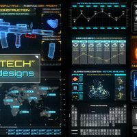 VIDEOHIVE CYBERTECH HUD INFOGRAPHIC PACK FREE DOWNLOAD