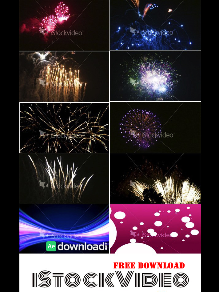 FIREWORKS BUNDLE - STOCK FOOTAGE (ISTOCK VIDEO) free download