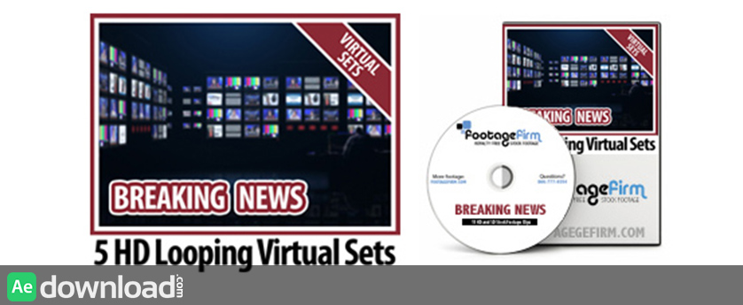 FREE Breaking News Virtual Set Backgrounds on Data DVD