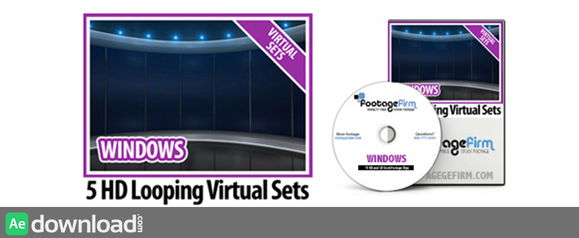 FREE Windows Virtual Set Backgrounds on Data DVD