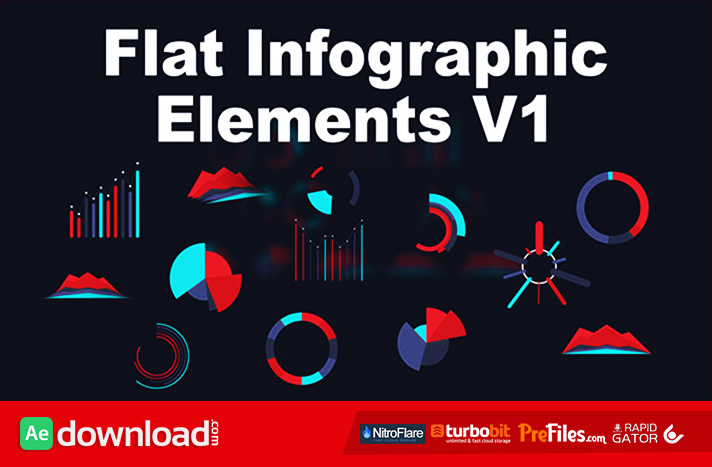 Flat Infographic Elements V1 After Effects Project Free