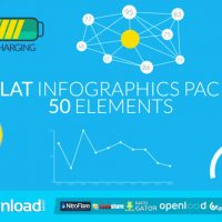 FLAT INFOGRAPHICS PACK (50 ELEMENTS) FREE DOWNLOAD