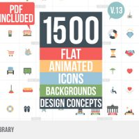 VIDEOHIVE FLAT ANIMATED ICONS LIBRARY 11453830 FREE DOWNLOAD