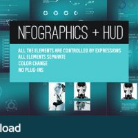 VIDEOHIVE INFOGRAPHICS + HUD – AE PROJECT