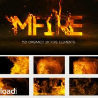 MOTIONVFX MFIRE – 150 ORGANIC 2K FIRE ELEMENTS