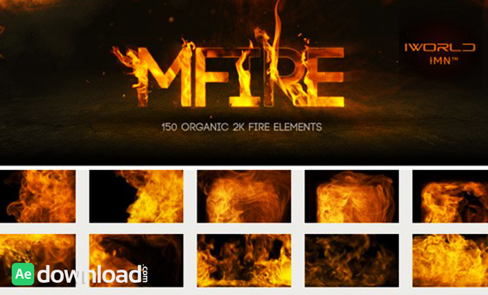 MOTIONVFX MFIRE - 150 ORGANIC 2K FIRE ELEMENTS - Free After