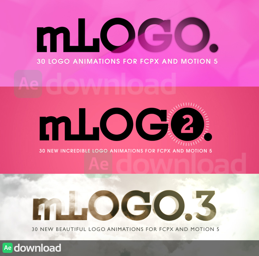 MOTIONVFX - MLOGO 1, 2 & 3 FOR MOTION 5 AND FINAL CUT PRO X