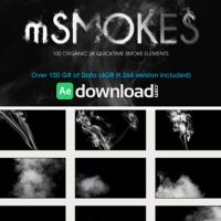 MOTIONVFX – MSMOKES 100 ORGANIC 2K SMOKE ELEMENTS