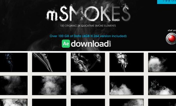 MOTIONVFX - MSMOKES 100 ORGANIC 2K SMOKE ELEMENTS (H.264 VERSION) free download