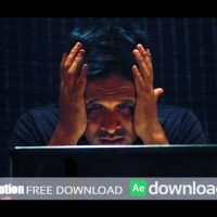 MAN GETS TIRED & FRUSTRATED WITH LAPTOP AFTER EFFECTS TEMPLATE