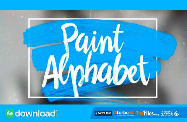 Oil Paint Alphabet