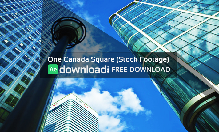 One Canada Square (Stock Footage)