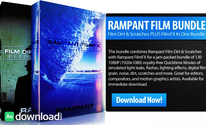 RAMPANT FILM BUNDLE – FILM DIRT & SCRATCHES + FILMFX