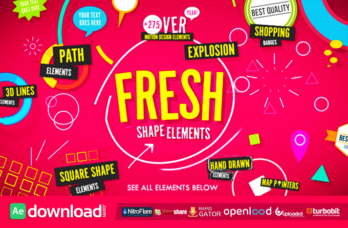 VIDEOHIVE SHAPE ELEMENTS FRESH FREE DOWNLOAD - Free After