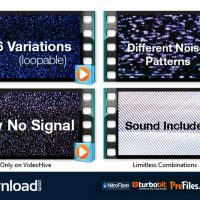 VIDEOHIVE TV NOISE – NO SIGNAL BUNDLE – MOTION GRAPHICS