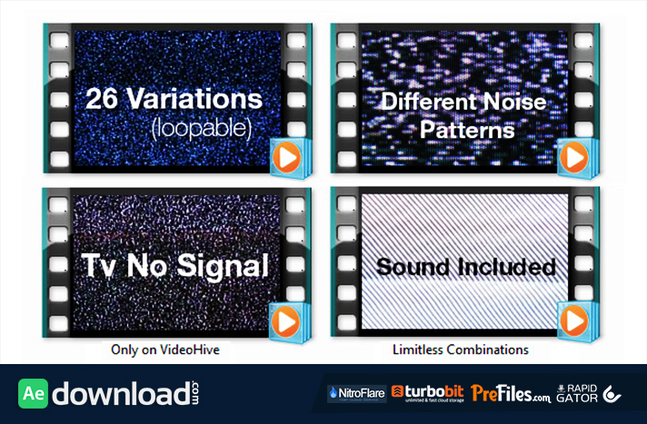 TV Noise - No Signal Bundle Free Download After Effects Templates
