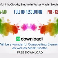 Twin Colorful Ink, Clouds, Smoke in Water Mask After Effects Template