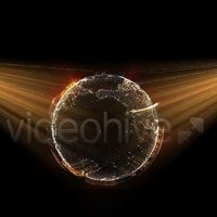 VIDEOHIVE CYBER EARTH GLOBE HOLOGRAM – MOTION GRAPHICS