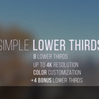 VIDEOHIVE SIMPLE LOWER THIRDS FREE DOWNLOAD