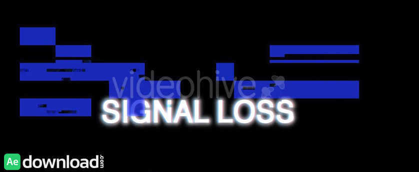 VIDEOHIVE SIGNAL LOSS - MOTION GRAPHICS - Free After ...