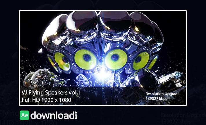 VIDEOHIVE VJ FLYING SPEAKERS VOL.1FREE DOWNLOAD