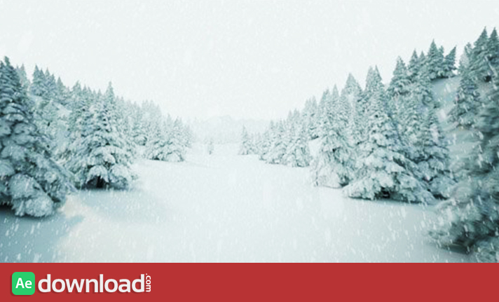 WINDER LANDSCAPE WITH FALLING SNOW - STOCK FOOTAGE (ISTOCK VIDEO) free download
