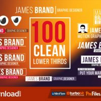100 CLEAN LOWER THIRDS – (VIDEOHIVE TEMPLATE) – FREE DOWNLOAD