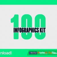 100 INFOGRAPHICS KIT (VIDEOHIVE PROJECT) – FREE DOWNLOAD