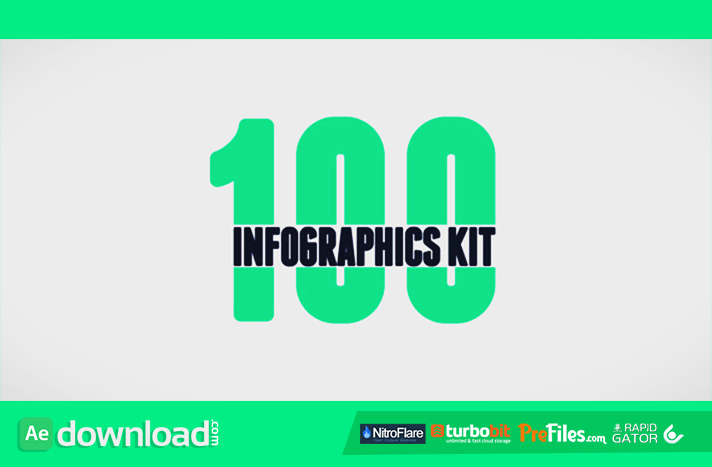 100 Infographics Kit Free Download After Effects Templates