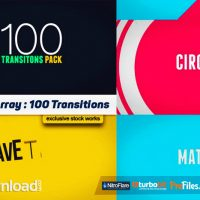 100 TRANSITIONS PACK – AFTER EFFECTS PROJECTS (MOTION ARRAY)