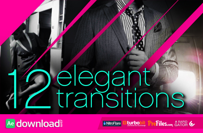 12 Elegant Transitions Free Download After Effects Templates