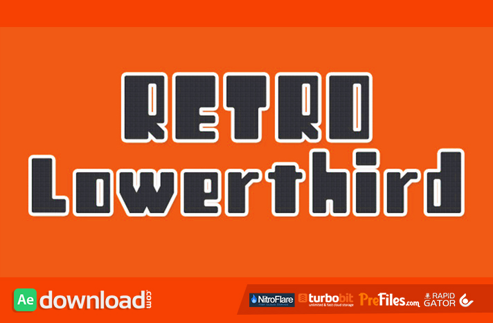 12 Retro Lowerthird Free Download After Effects Templates
