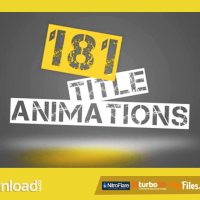 181 TITLE ANIMATIONS (VIDEOHIVE) – FREE DOWNLOAD