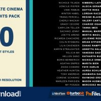 20 CINEMA FILM CREDITS PACK (VIDEOHIVE PROJECT) – FREE DOWNLOAD