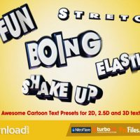VIDEOHIVE 22 AWESOME CARTOON TEXT PRESETS – FREE DOWNLOAD