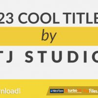23 COOL TITLE ANIMATIONS (VIDEOHIVE) – FREE DOWNLOAD