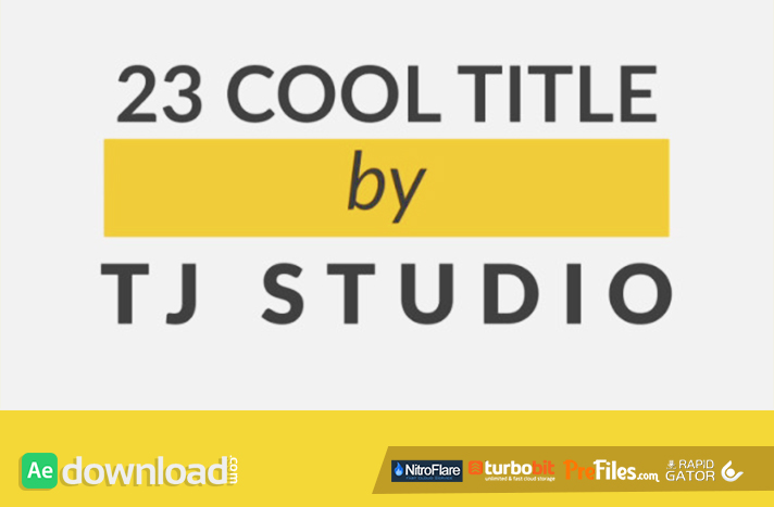 23 cool Title Animations Free Download After Effects Templates