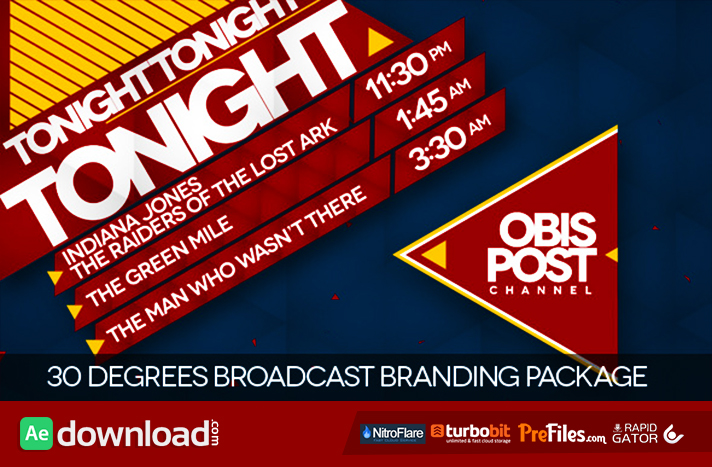 30 Degrees - Broadcast Branding Package Free Download After Effects Templates